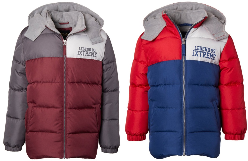 toddler boys snow jackets burgundy and red