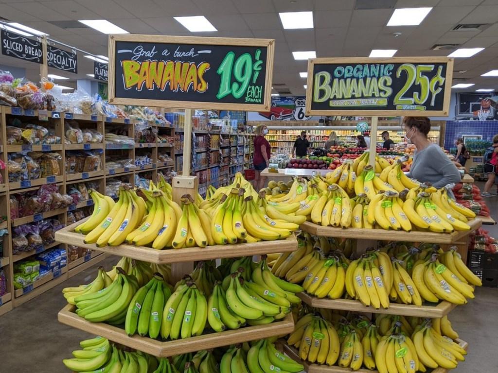 bananas for sale at Trader Joe's