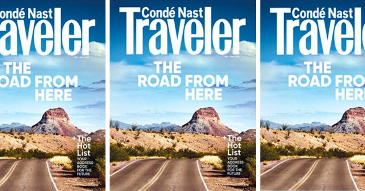 Traveler Magazine. Three images of the front cover