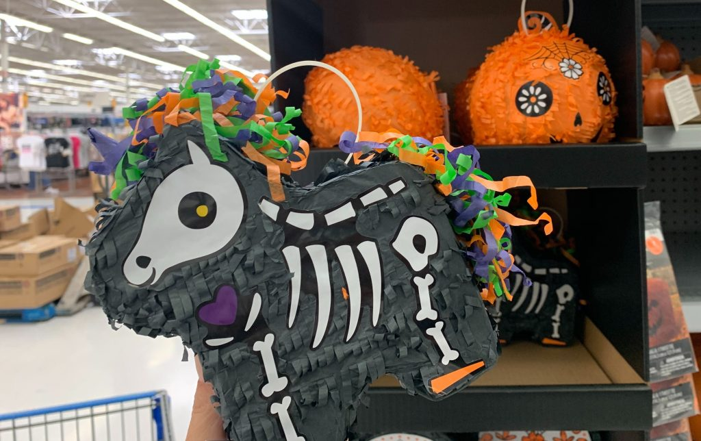 unicorn skeleton pinata at walmart