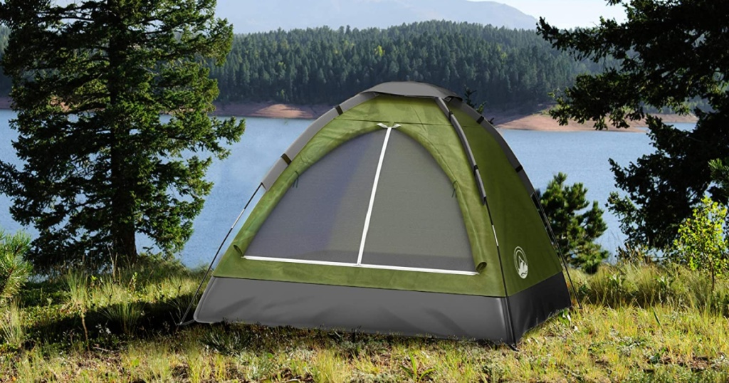 wakeman tent green in forest