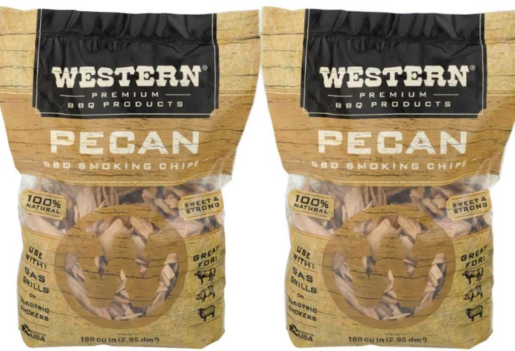 smoking chips in pecan stock image