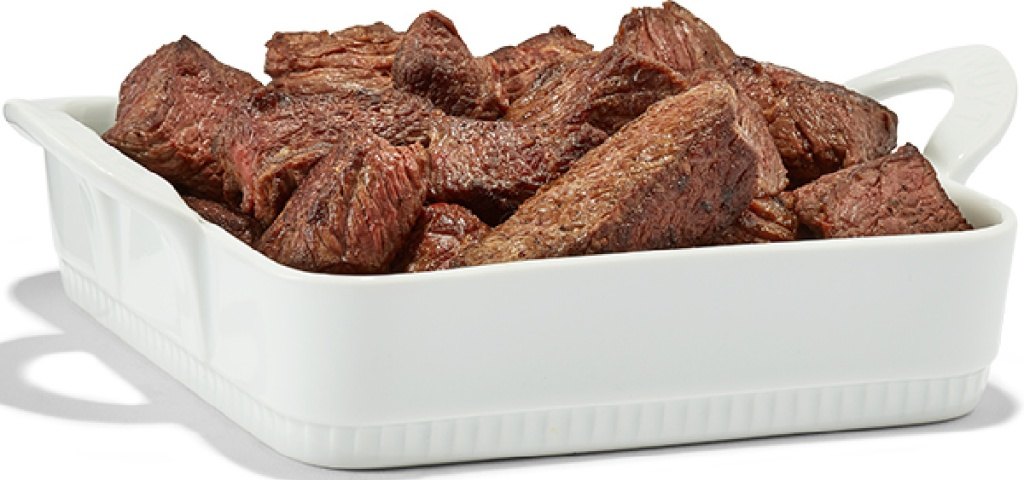 chuck roast in white serving tray