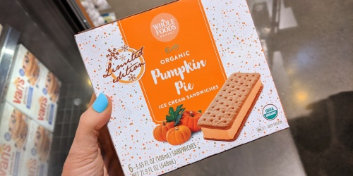 Limited Edition Whole Foods Organic Pumpkin Pie Ice Cream Bars Only $3.99