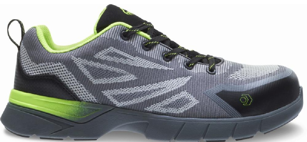 green black and gray shoes