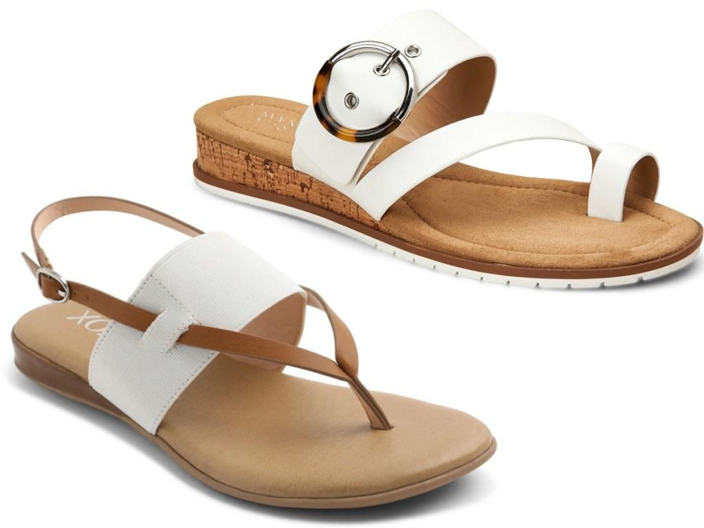 women white strap sandals