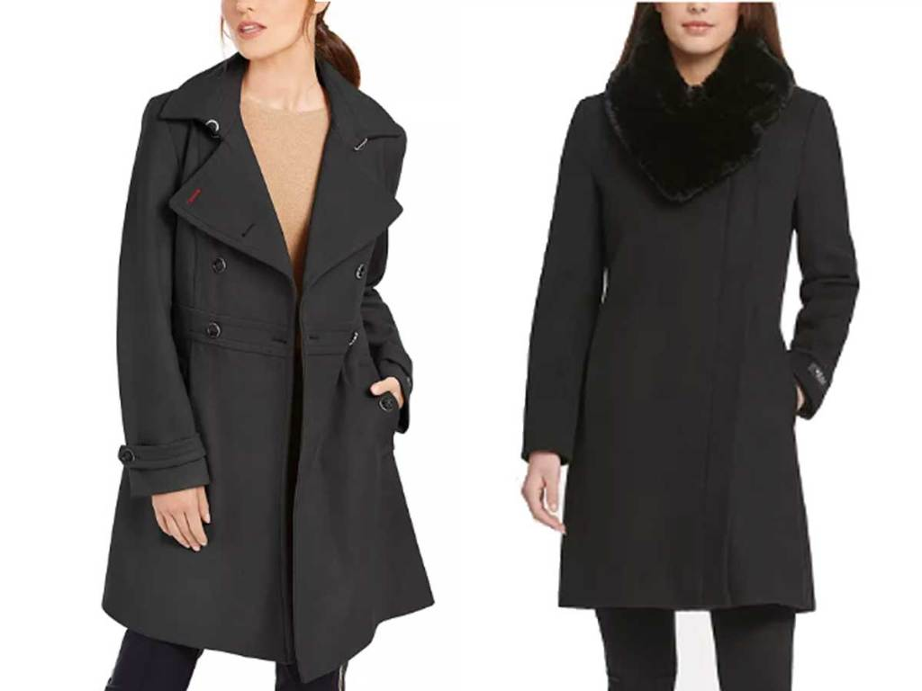 women wearing long coats