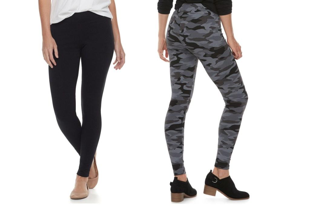 womens leggings black and camo