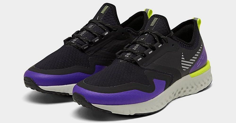 womens nike react odyssey shoes purple and black
