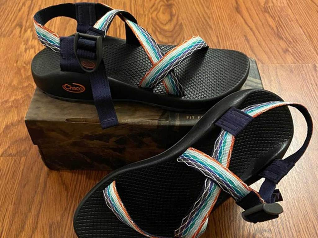 woman's sandals on a box