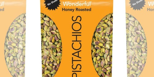 Wonderful Honey Roasted Pistachios 22oz Bag Only $15 Shipped on Amazon | No Shells!