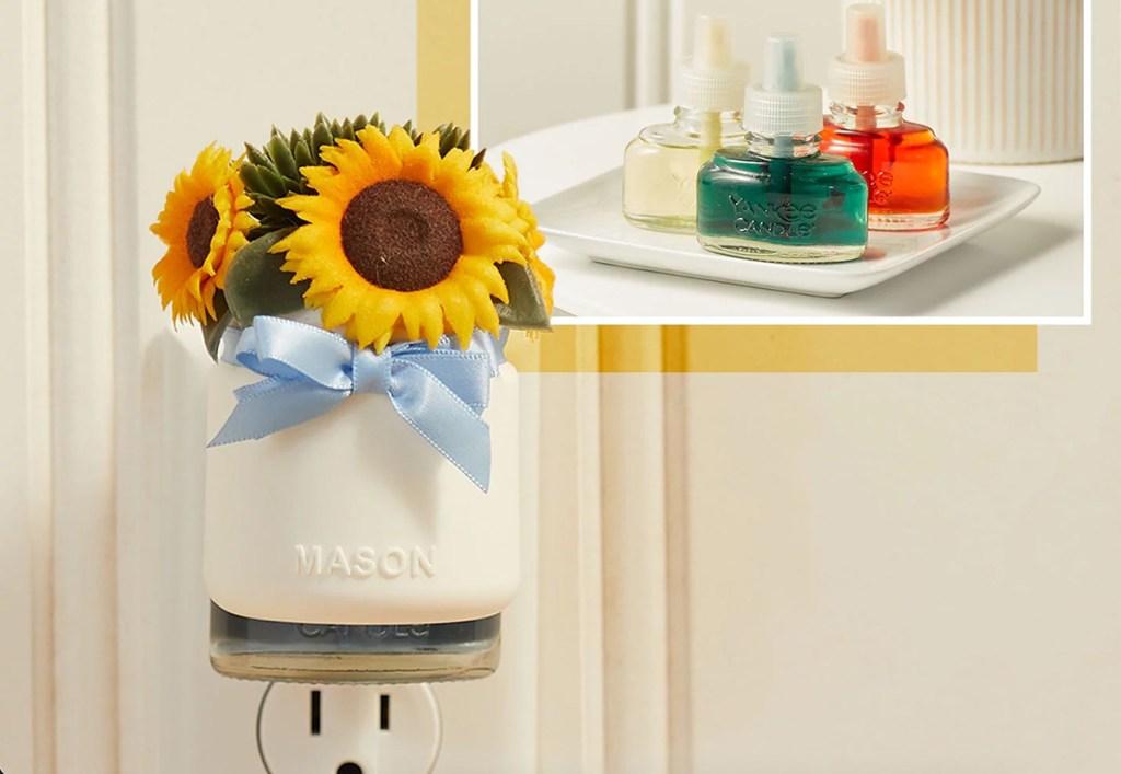 yankee candle sunflower plug in