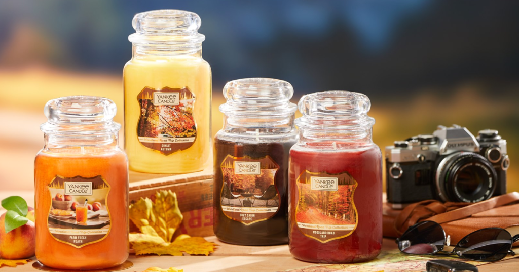 Yankee candle large jar candles fall collection