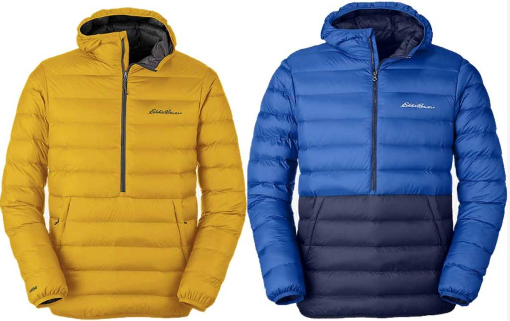 men's pullover down jacket