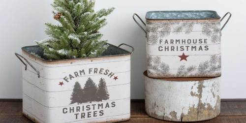 Farmhouse Metal Bins Set Just $39.99 (Regularly $72) + More Great Gift Ideas
