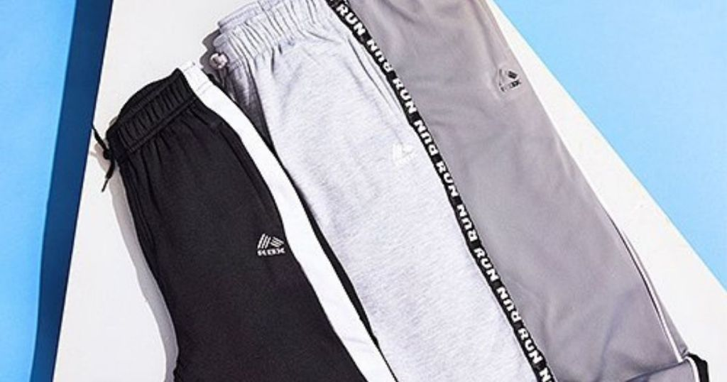 boys black and gray joggers