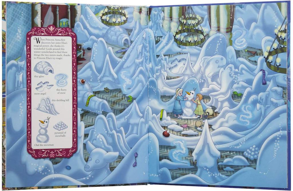 Inside Page of Frozen Book