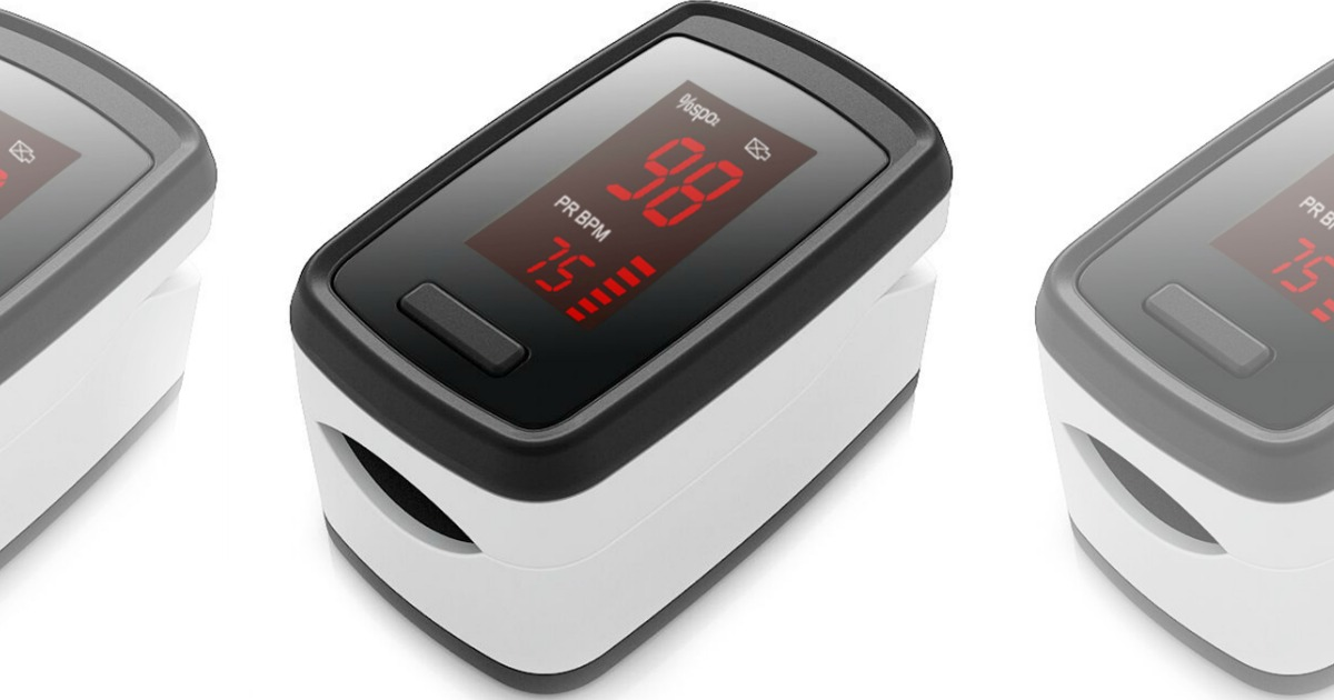 Three Acurio Portable Fingertip Blood Oxygen Monitor side by side
