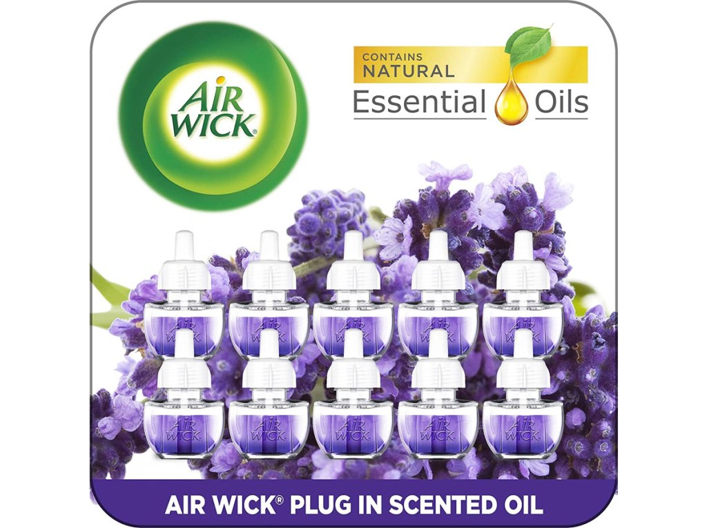 10-pack of Air Wick Plug-In Scented Oil Refills in Lavender and Chamomile scent