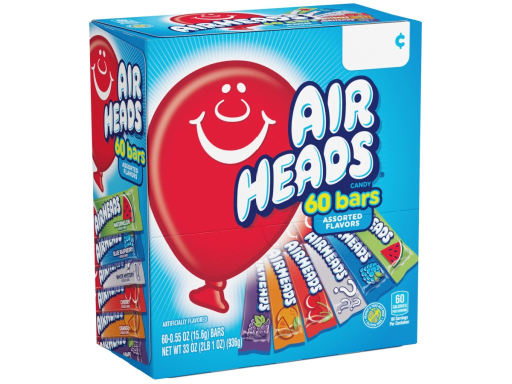 AirHeads Candy Bars 60-Count Box on Amazon