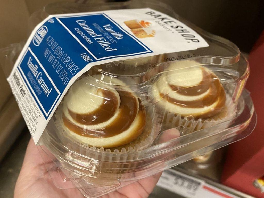 Caramel Filled Cupcakes 4-pack