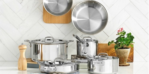 All-Clad Stainless Steel 10-Piece Cookware Set Only $489.99 Shipped on Macys.com (Regularly $1,167)