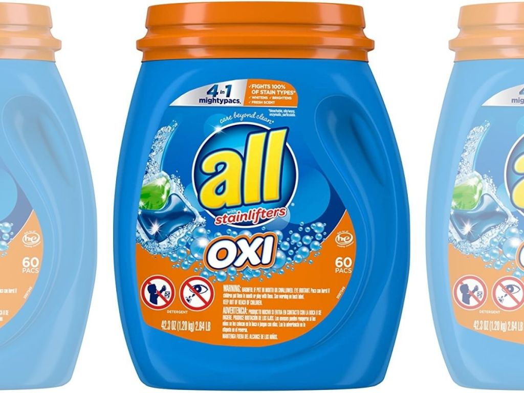 all mighty pacs laundry detergent 60-count