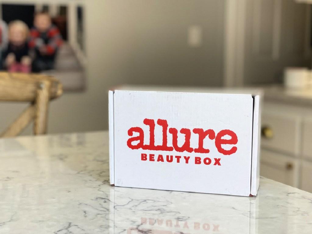 Allure box on counter