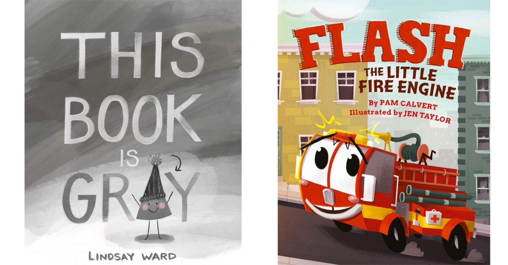 this book is gray and flash the little fire engine children's books