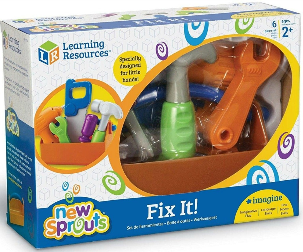 Large package of toy tools for kids