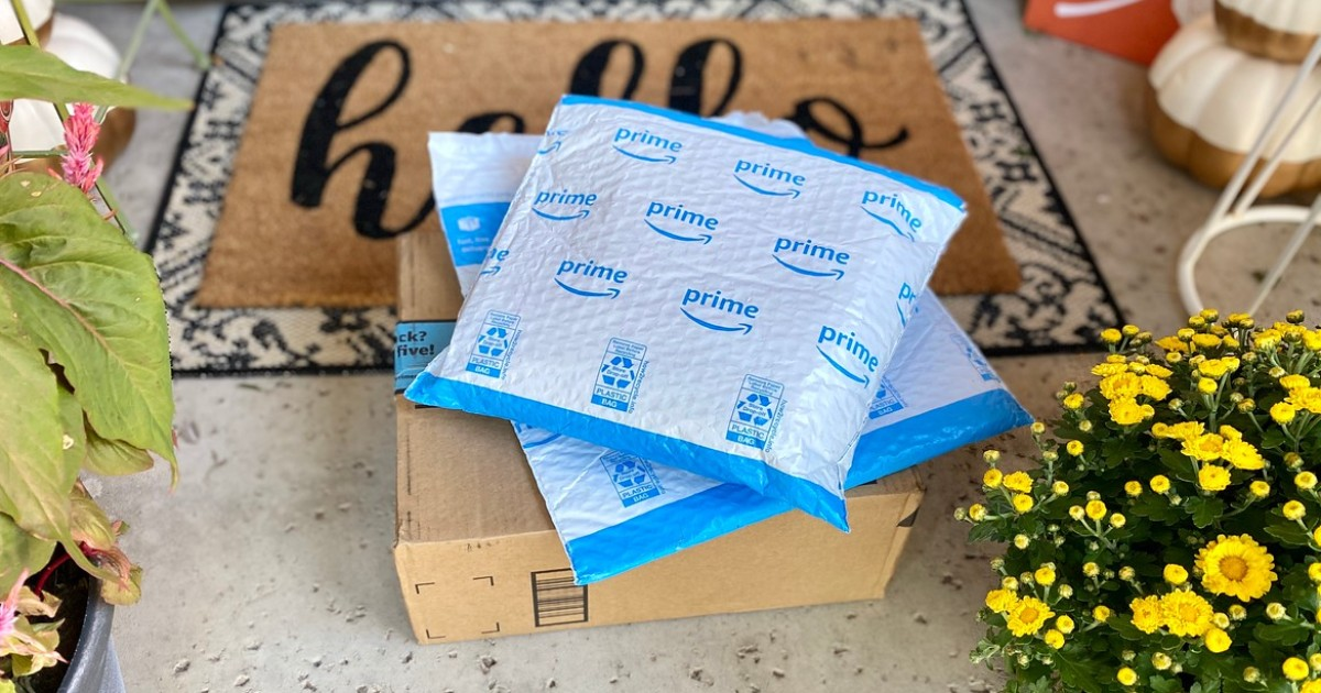 Amazon packages on porch