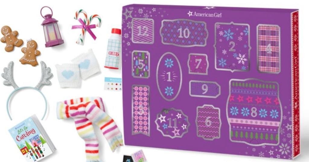 American Girl Advent Calendar and contents