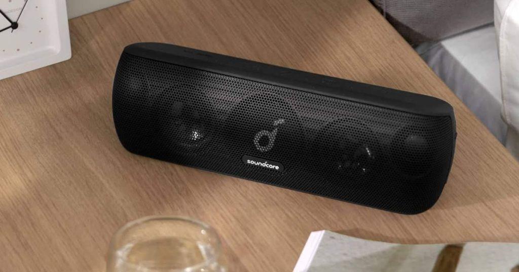 Anker Soundcore Motion+ Bluetooth Speaker on counter