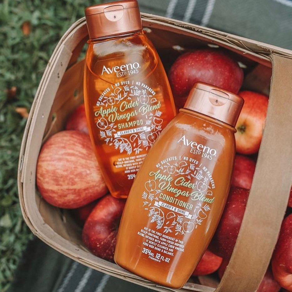 Apple Cider Vinegar Shampoos in apple bucket