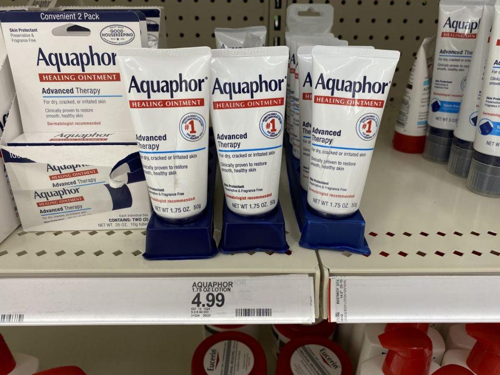 display of Aquaphor at Target