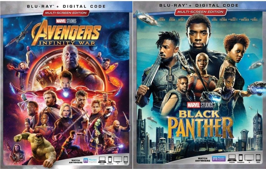 Avengers Blu-Ray Movies Infinty War and Black Panther