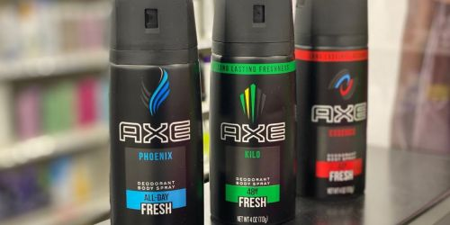 $40 Worth Of Axe, Degree & Suave Deodorant Products Just $8.31 After Cash Back & CVS Rewards
