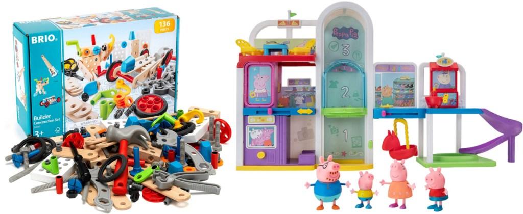 BRIO builder set and Peppa Pig Mall Playset