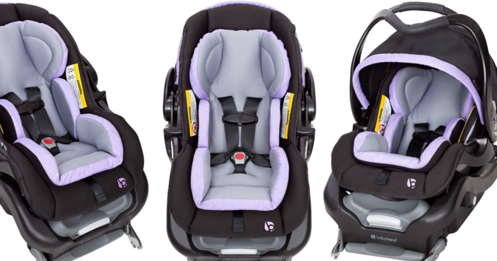 baby trend car seat with purple insert