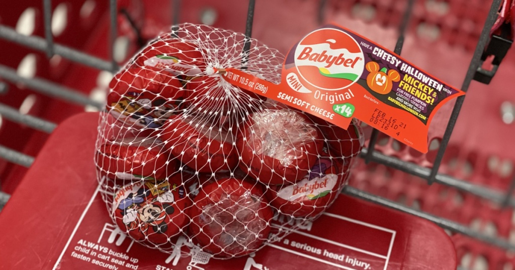 babybel cheese 14-count in target shopping cart