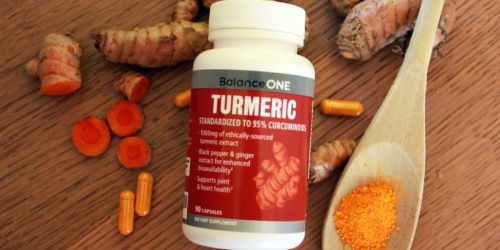 50% Off Balance ONE Turmeric Extract + Free Shipping on Amazon | Improves Inflammation & Pain