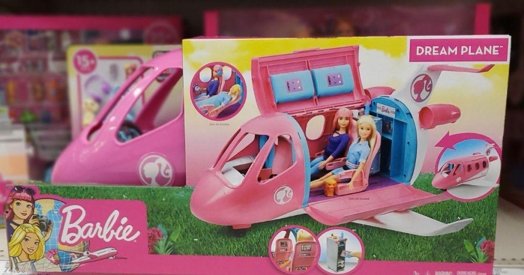 Barbie Dream Plane on a shelf