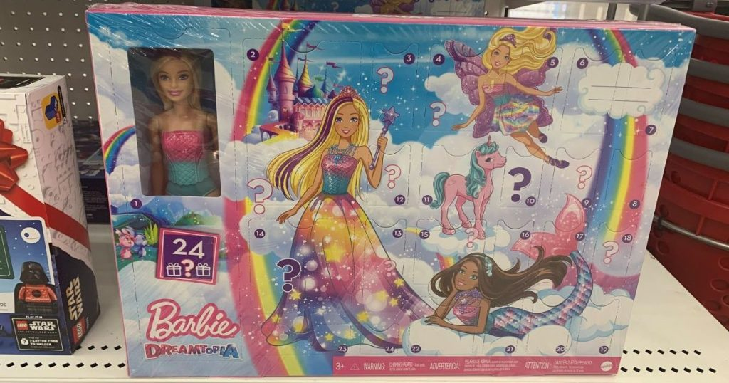 Barbie Dreamtopia Advent Calendar on shelf