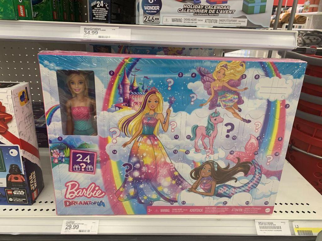 Barbie Dreamtopia Advent Calendar on shelf