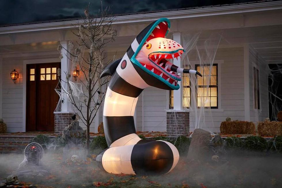 Beetlejuice Sandworm Halloween inflatable