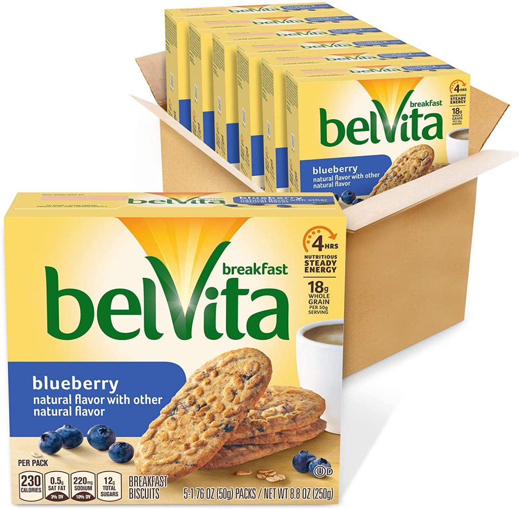 6 boxes of Belvita Breakfast Biscuits packed in box
