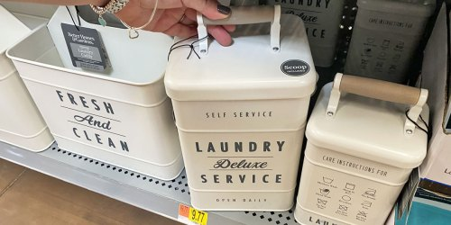Better Homes & Gardens Metal Laundry Containers from $7.44 at Walmart