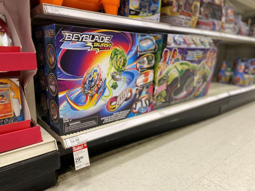 Beyblade Burst Rise toy on shelf at Target