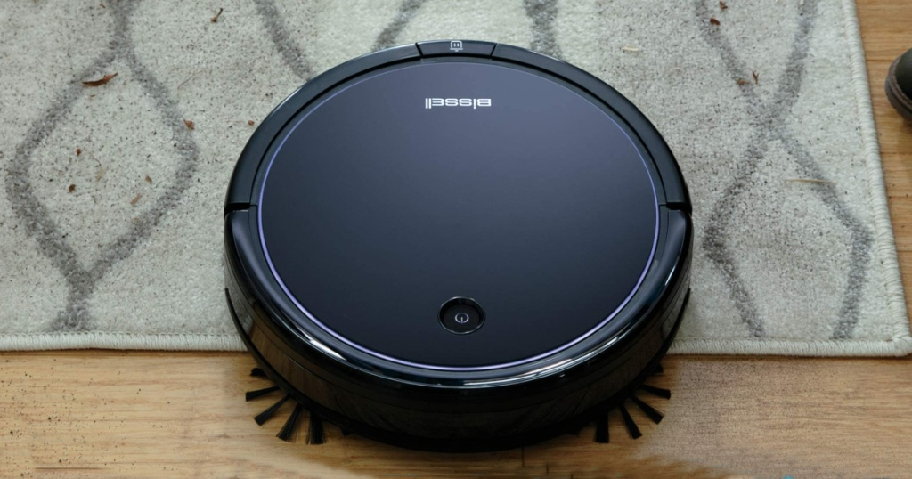 Bissell Robotic Vacuum Cleaner on a rug
