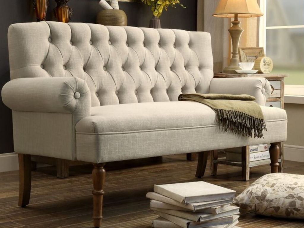 Wide Rolled Arm Sofa